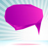 Abstract origami speech bubble template. + EPS8 — Stockvektor