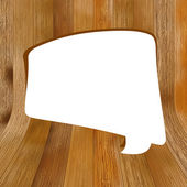 Wooden background with speech bubble. + EPS8 — Stock Vector