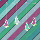 Gingerbread with Christmas tree branches. + EPS8 — Stock vektor
