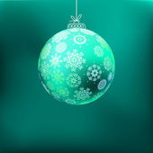 Christmas background with blue ball. + EPS8 — Stock Vector