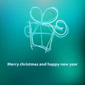 Christmas card template design. + EPS8 — Stock Vector