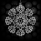 Snowflakes background with space for text. + EPS8 — Stock Vector