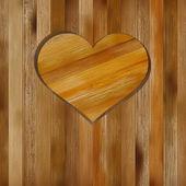 Heart in wood shape for your design. + EPS8 — Stockvektor
