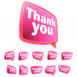 Thank you message stickers set. + EPS8 — Stock Vector