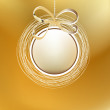Royalty-Free Stock Imagem Vetorial: Merry christmas gold card.  + EPS8