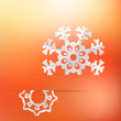 Christmas background and snowflakes. + EPS8 — Stock Vector #19211051