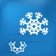 Stock Vector: Christmas snowflake on blue . + EPS8
