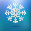 Paper christmas snowflake on a blue. + EPS8 — Stock Vector