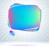 Abstract glossy speech bubble. + EPS8 — Stock Vector