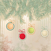 Christmas background with retro balls. + EPS8 — Stock Vector