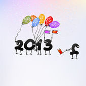 Funny 2013 New Year's Eve greeting card. + EPS8 — Stock Vector