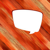 Wooden background with speech bubble. + EPS8 — Vector de stock
