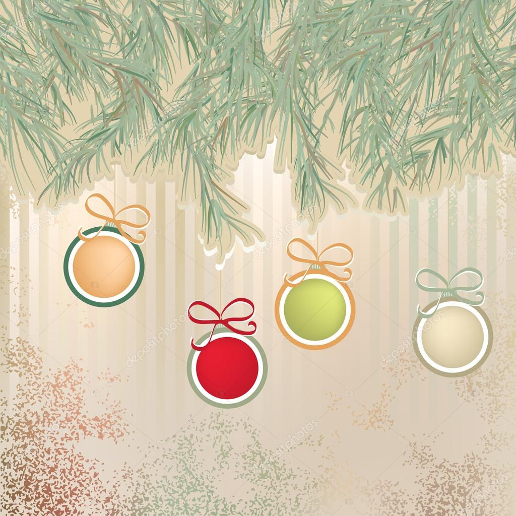 Christmas background with retro balls.  + EPS8 vector file  Stock Vector #19211259