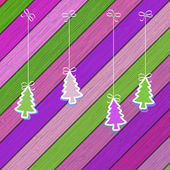 Gingerbread cookies with Christmas tree branches. + EPS8 — Stok Vektör
