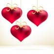 Royalty-Free Stock Vector Image: Holiday card with hand drawn hearts.  + EPS8