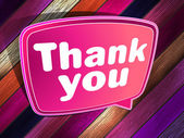 Thank you poster on a wooden. EPS 10 — Stock Vector