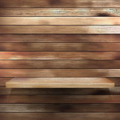 Holz regal für ausstellung. eps 10 — Stockvektor