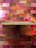 пустые полки для выставки на цвет древесины. eps 10 — Cтоковый вектор