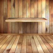 Vide intérieur avec tablette en bois. eps 10 — Vecteur