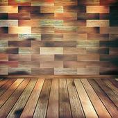 古い木製インテリアの客室は棚。eps 10 — ストックベクタ
