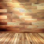 木製インテリアの部屋。eps 10 — ストックベクタ