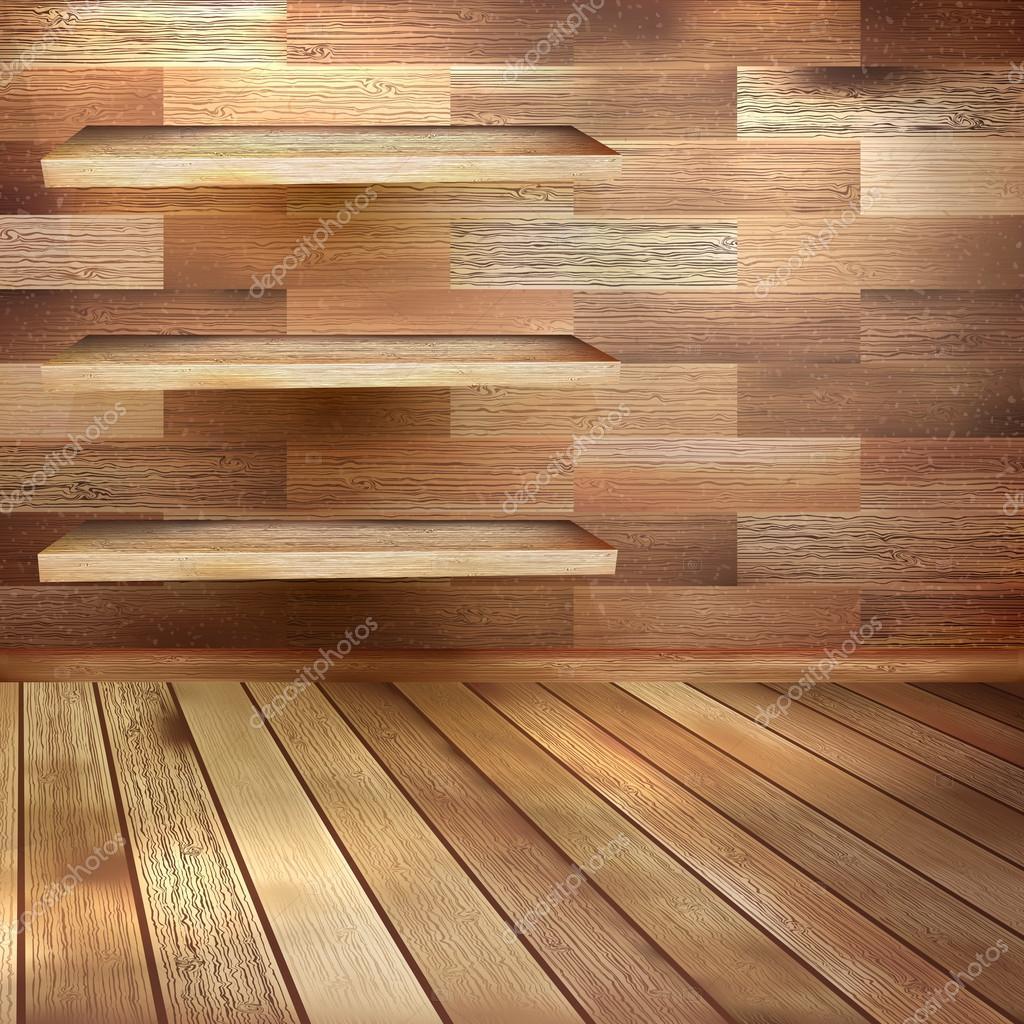 Nieuwe kamer interieur eiken parket van bruine kleur en omvat ook eps 10 vector stockvector - Kleur van een volwassen kamer ...