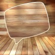 Natural wood texture speech bubbles. EPS 10 - Stock vektor