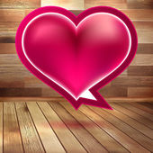 Valentines Day background with heart. EPS 10 — Stock Vector