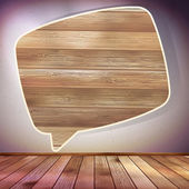 Wooden Speech Bubble template. EPS 10 — Stock Vector