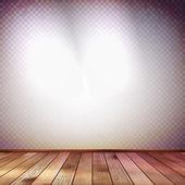 Vägg med en spot belysning. eps 10 — Stockvektor