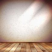 Ljus vägg med en spot belysning. eps 10 — Stockvektor