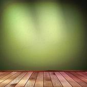 Tomma inuti med en grön vägg. eps 10 — Stockvektor