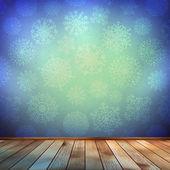 Jul rum och blå vägg. eps 10 — Stockvektor
