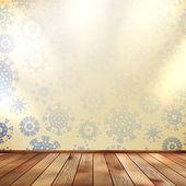 Navidad habitación y azul de la pared. eps 10 — Vector de stock