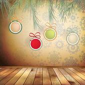 Blahopřání vánoční interiér. eps 10 — Stock vektor