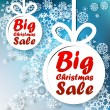 Christmas Big Sale template with copy space. — Stock vektor