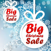 Christmas Big Sale template with copy space. — Stock Vector