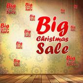 Big Sale interior decorated snowflakes. EPS 10 — Stock Vector