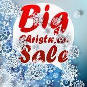 Christmas Big sale template. — Stock Vector