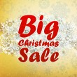 Christmas retro Big Sale with copy space. — Vetor de Stock  #28974727