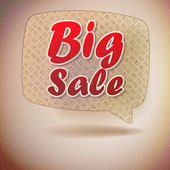 Sale sign in retro speech bubble. — Stock Vector