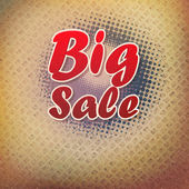 Big sale text on halftone pattern. — Stock Vector