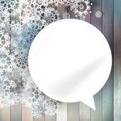 音声認識のためのクリスマスの泡. — ストックベクタ