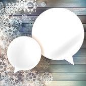 Christmas bubbles for speech. — Stock Vector