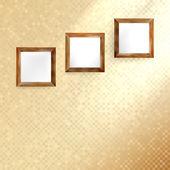 Golden Mosaik-Interieur. — Stockvektor
