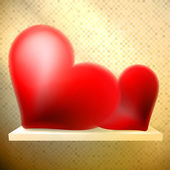 空架子上用红色的心. — 图库矢量图片