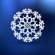 Christmas blue background with snowflake. — Stock Vector