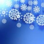Elegant Christmas background with snowflakes. — Vector de stock