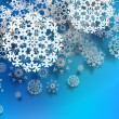 Beautiful snowflake Christmas background. + EPS10 — Stock Vector