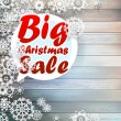 Christmas snowflakes with big sale. — Stock Vector